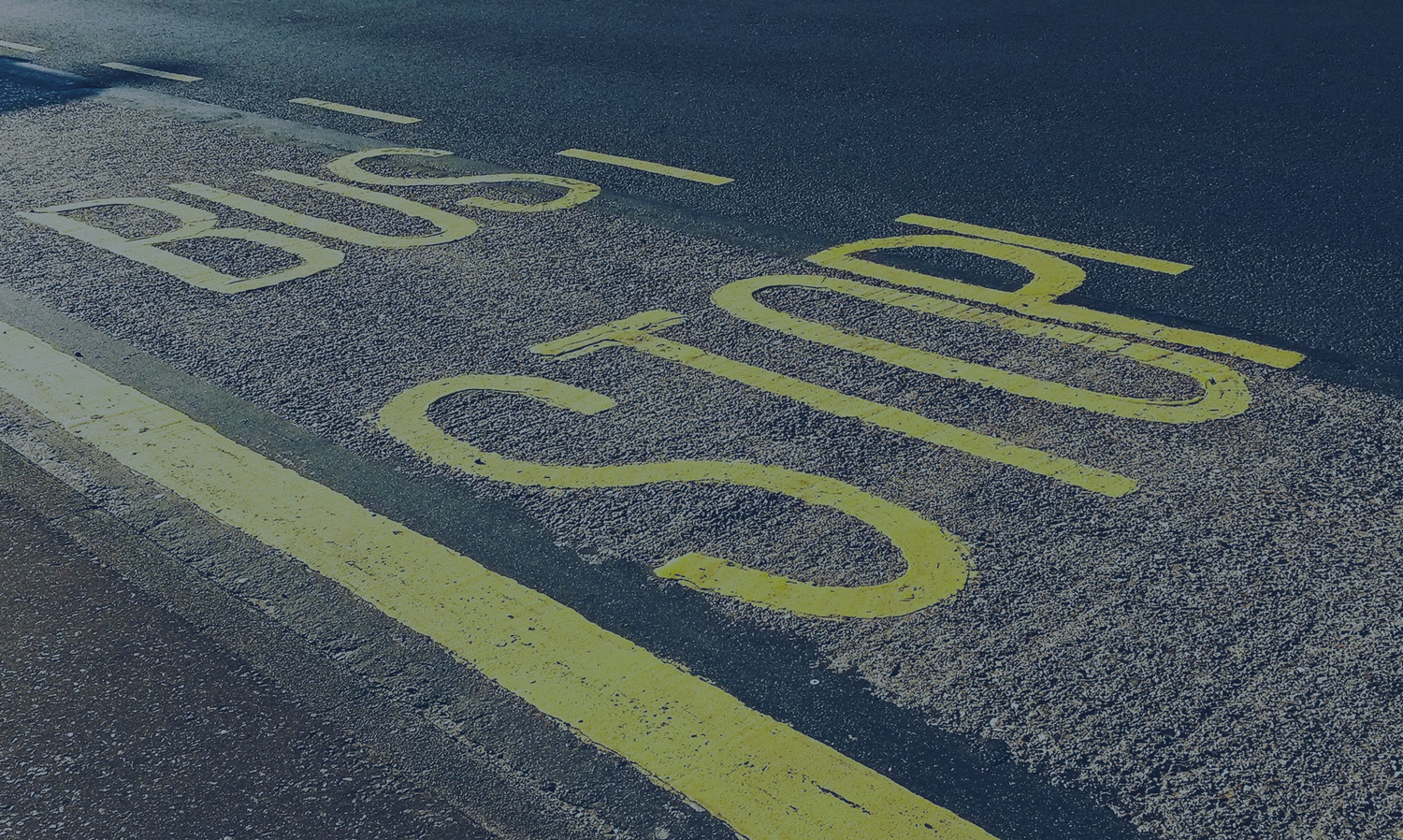 Bus Stop marking on road